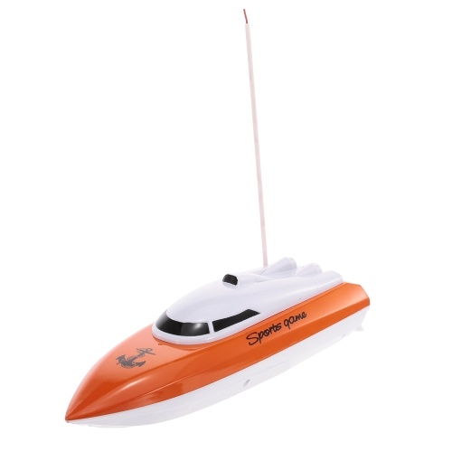 HEYUAN 802 Portable Micro RC Racing Boat Pilot Speedboat Boy Gift Kid Toy