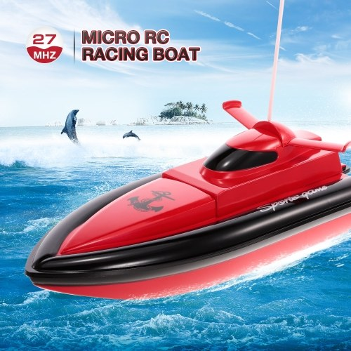 HEYUAN 800 Portable Micro RC Racing Boat Remote Control Speedboat Boy Gift Kid Toy