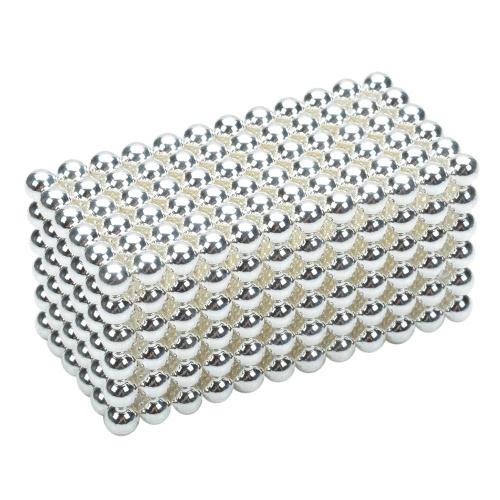 3 mm DIY Magnetic Beats Magic Balls Puzzle Set 432 Pieces Silver
