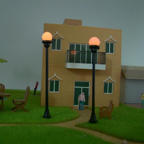 Modello giardino Lampade (testa singola) 1: 100