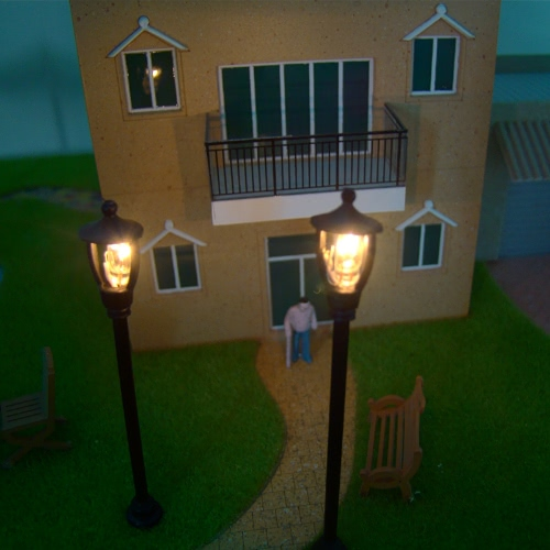 Model Single Head Garden Lamps 1:100