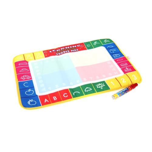 Kids Drawing Water Mat Tablet Aqua Doodle 45 * 29cm Multicolour Drawing Board + Pen