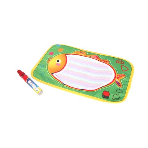 Kinder zeichnen Wasser Mat Tablet Aqua Doodle 29 * 19cm multicolor Fisch Muster Reißbrett + Stift