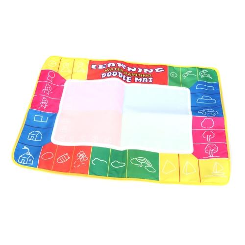 Rysunek dla dzieci Magic Water Mat 1 zestaw 74 * 50cm Multi-kolorowy Aqua Doodle Mat z 1 piórem + 1 modelem malowania