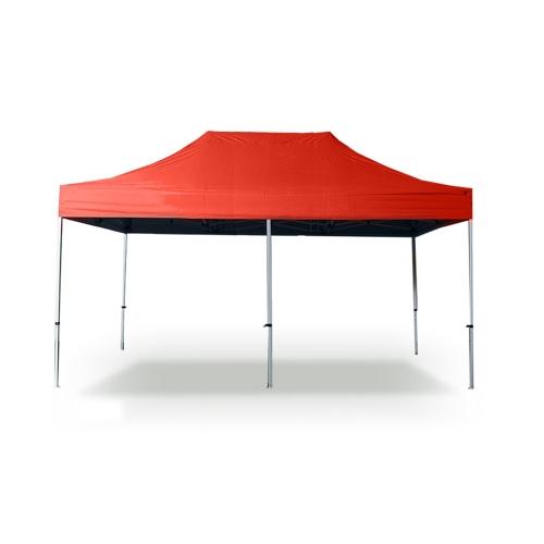 3 * 6m Polyester 300g / m² PVC beschichtete Faltzelt 32mm Rohr Rot