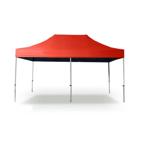 3 *6m La Carpa plegable de PVCcoating  poliéster 300g / m² con Tubo de 32mm  Rojo