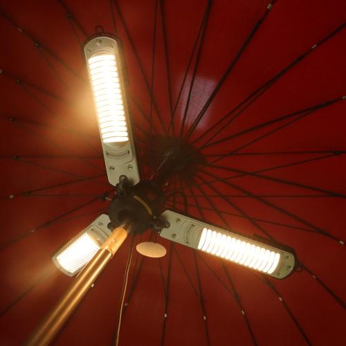 Tre lampade a riscaldatore elettrico patio - alogena a infrarossi - 2000w