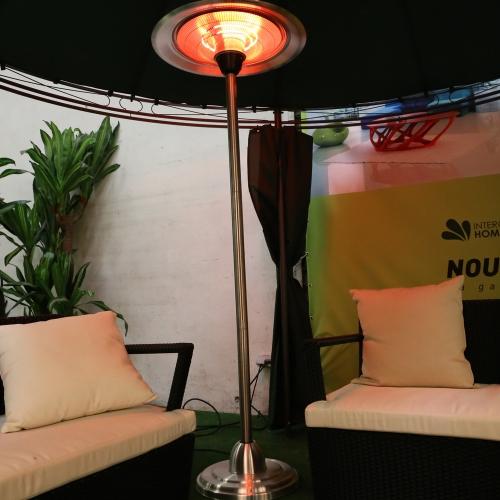 Calentador parasol eléctrico con aluminio halógeno – 3000 vatios-