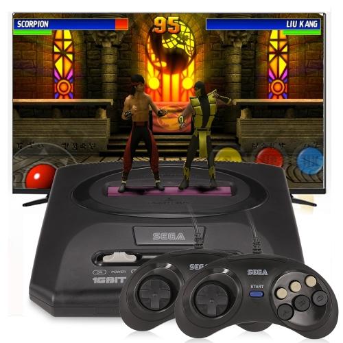 Sega Mega Drive 2 Videogiochi Console 16 bit Retro Handheld Game Player 5 Giochi all'interno