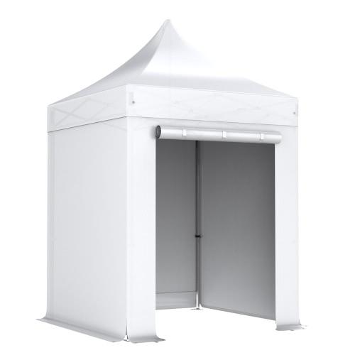 nur wei komplettset faltpavillon 2x2m alu 40 polyester wasserdicht interouge. Black Bedroom Furniture Sets. Home Design Ideas
