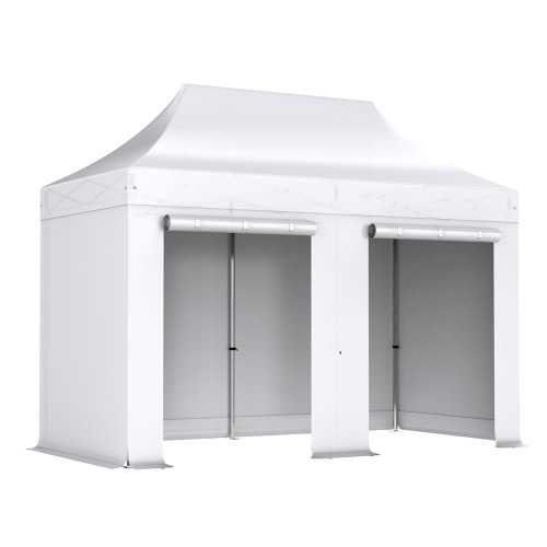 Barnum pliant 2x4m Pack complet Alu 40/45 polyester 300g/m² pelliculé PVC