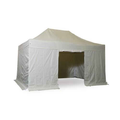 nur elfenbeinwei komplettset faltpavillon alu 40 polyester wasserdicht. Black Bedroom Furniture Sets. Home Design Ideas