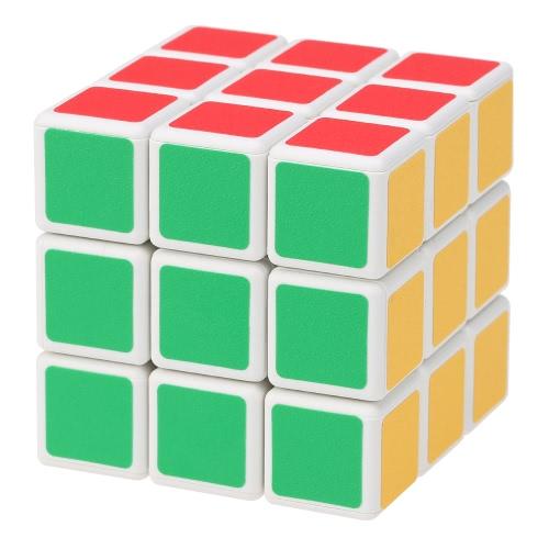 元 Shengshou 3 * 3 * 3 マジック キューブ ABS Cubo パズルの超滑らかな速度ツイスト マット ステッカー教育玩具白い大地
