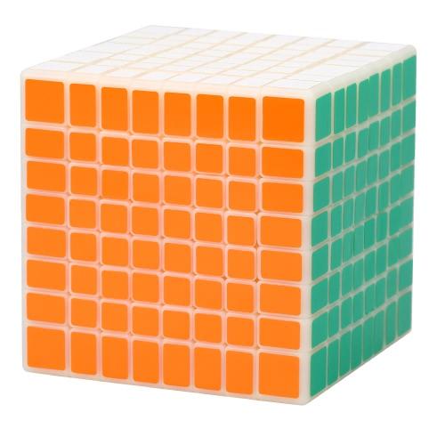 プロの Shengshou 速度ツイスト マジック キューブ 8 * 8 * 8 ABS 超滑らかな Cubo パズル教育玩具乳白色白い大地