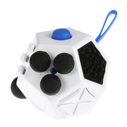 子供と大人のための12サイドそわそわキューブストレス不安リリーフデスクポケットアテンション玩具