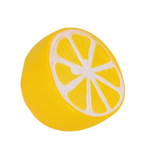 Squishyレモンスーパースローライジングデコレーションフルーツチャームスクイズ玩具電話ストラップペンダントスクイズギフトストレスリリーフおもちゃピンク