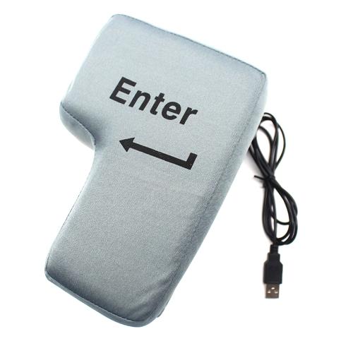 デスクトップPC用の巨大なEnterキーピローストレスパンチバッグWashable Removeble Unbreakable Cushion