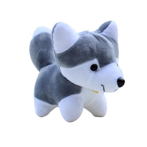 Super Cute Little Husky Hund Puppe Spielzeug Tiere Cartoon Plüschtiere für Jungen und Mädchen Geschenk Geburtstagsgeschenk grau