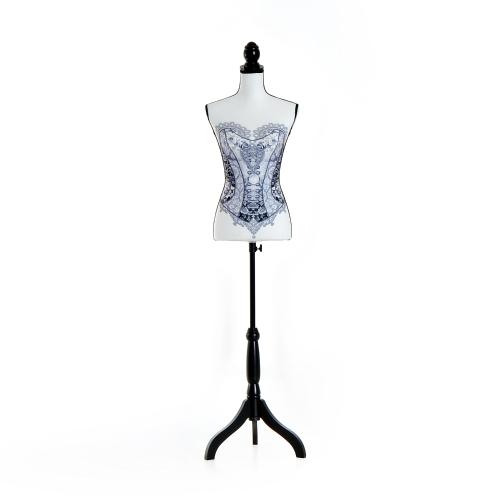 """35 """"x 26"""" x 36 """"Mode Schaufensterpuppe weibliche Kleid Form mit Basis - schwarzer Spitze"""