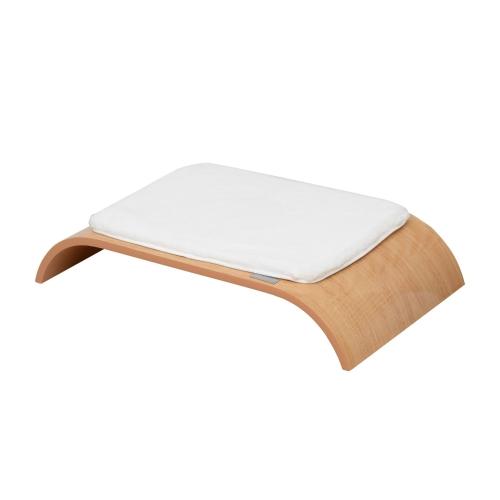 27 «Современная кровать для домашних животных середины века - Burlywood / White