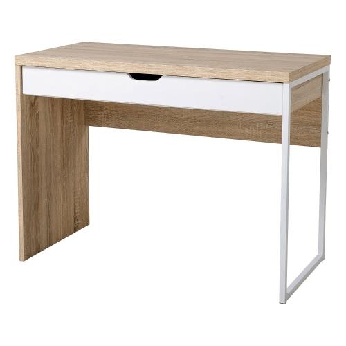 Table d'écriture de bureau d'ordinateur en bois en bois moderne avec le tiroir