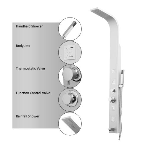 HomCom 4 Stage душевая головка / распылитель для тела
