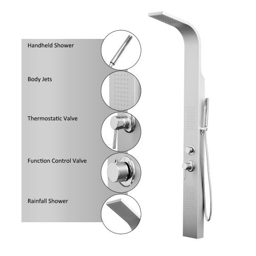 Homcom 3 Stage Shower Head / Body Sprayer Panel