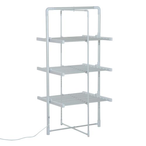 Plegable de 3 niveles de secado eléctrico ropa secadora Airer - Plata