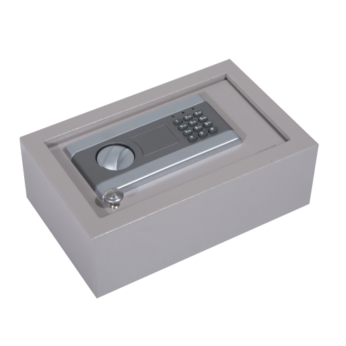 """13 """"L x 8"""" W x 4 """"H Cajón de apertura superior seguro con cerradura de combinación electrónica - Gris"""