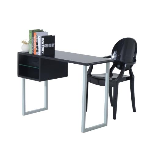 Współczesne biurko do pisania - czarny