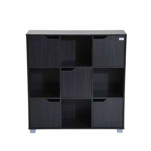 Organisateur d'étagère de rangement pour bibliothèque Cube (9 Cube Black)