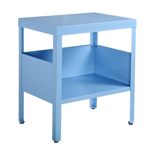 Table de chevet / table d'appoint Mid Century Modern Metal (Bleu Clair)