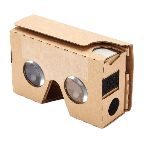 Portable Head-Mounted DIY Google Cardboard V2.0 3D Glasses VRS 34mm Bi-Convex Lenses 3D VR Virtual Reality Video Glasses for iPhone 6 Plus  Samsung  Note 4  HTC Up to 6