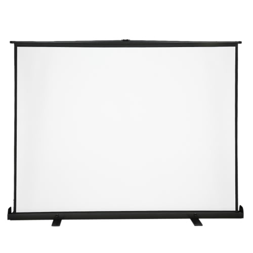 Image of 100-Inch HD Projection Screen Manual Pull Up 100Inch Diagonal Aspect Ratio 4:3