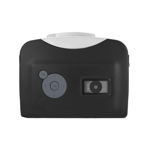 ezcap230 Cassette Tape-to-MP3 Converter Salvar em USB Flash Disk Auto Recorder Partition Standalone w / fone de ouvido Preto