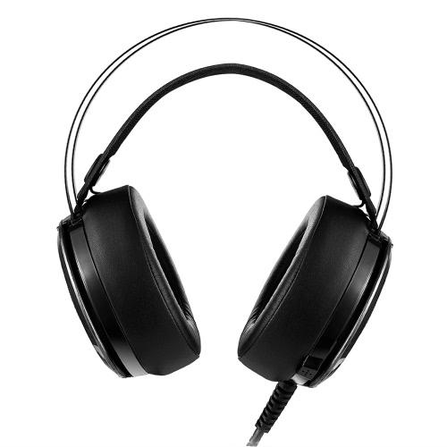 M160 3.5mm Stereo Gaming Casque Super Bass Over-oreille Casque LED avec micro pour PC portable