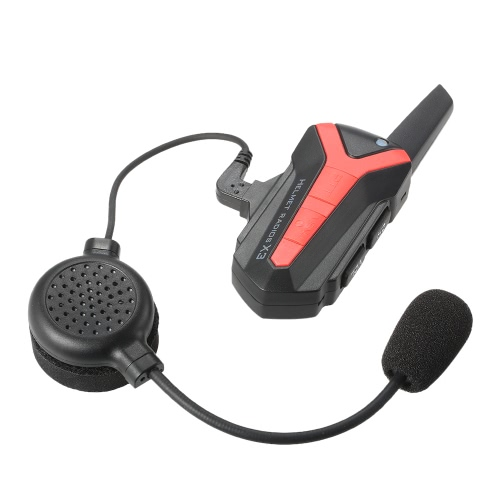 X3 Plus Bluetooth Interphone Casque moto moto Interphone 1-3KM Casque Radios Remote PTT Waterproof Hand-free Motorcyclist Skier