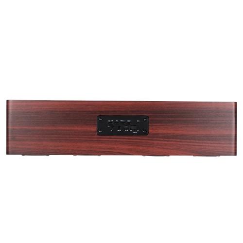 W8 Red Wood Grain BT Speaker BT 4.2 Четыре громкоговорителя Супер бас Сабвуфер Hands-free с микрофоном 3,5 мм AUX-IN TF-карта 3000mAh Аккумулятор для дома фото