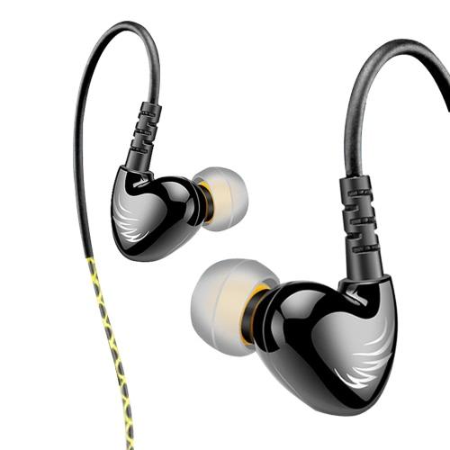 W1 In-Ear Wired Headphone com Mic Black