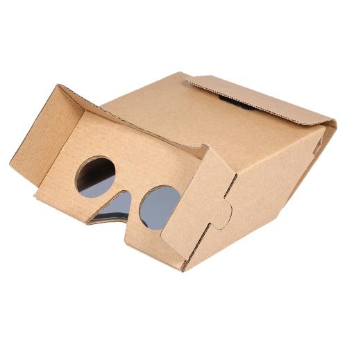 3D AR Augmented Reality DIY Paper Box AR Гарнитура для 3D-фильмов и игр Совместимость с Android и для Apple до 6 дюймов Машина для легкой настройки, предназначенная для ARkit / ARcore