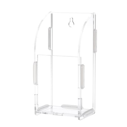 Boîte de rangement de contrôle à distance en acrylique Sundries Titulaire Mur Monté Bac de stockage Rack Container w / 1 Treillis pour le Bureau à Domicile