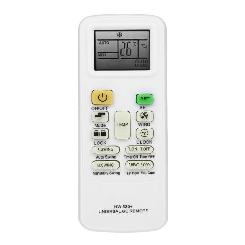 Universal LCD Screen A / C Air Conditioner Controle Remoto