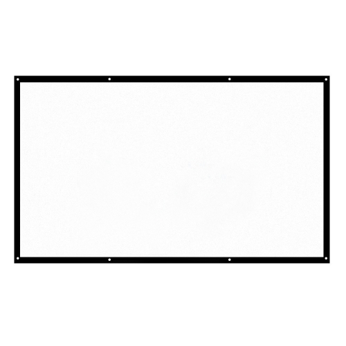 H120 16:9 120 Inch Portable Foldable Projector Screen White