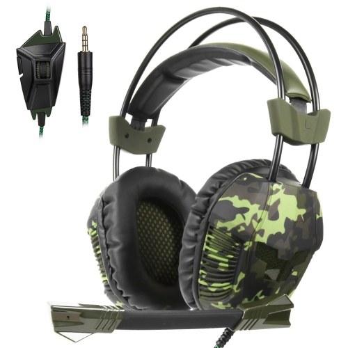 SADES SA-921 além de jogos com fio de 3,5 mm sobre fone de ouvido