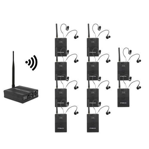TP-WIRELESS TP-WMS02 In-ear Stage Audio Monitor System Professional 2.4GHz Digital Wireless Monitor System 1 Transmitter 10 Receivers