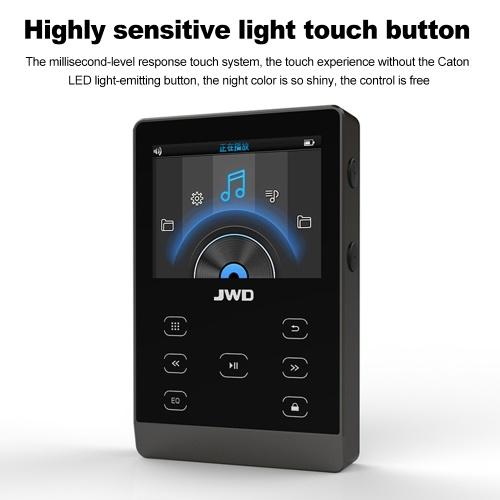 JWD JWM-107 16GB MP3 Player Metal HiFi Music Player DAC APE FLAC WAV Loseless Audio Player Bluetooth