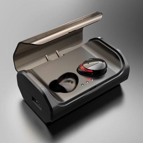 TWS T8 Bluetooth 5.0 True Wireless Cuffie Auricolari In-Ear Touch Control Auricolare stereo IPX6 Cuffie sportive impermeabili con doppio microfono Scatola di ricarica