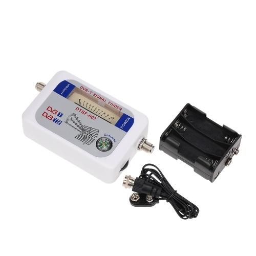 SF-007W Satellitensignalfinder DVB-T Digitaler Signalfinder TV-Empfänger mit Kompasszeiger