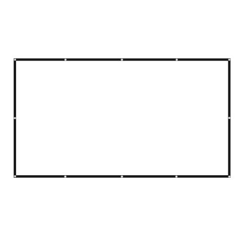 150 Zoll Projektorbildschirm Breitbild 16: 9 Tragbarer Projektionsbildschirm Faltenfreier faltbarer Innen-Außenprojektor Filmbildschirm für das Home Office