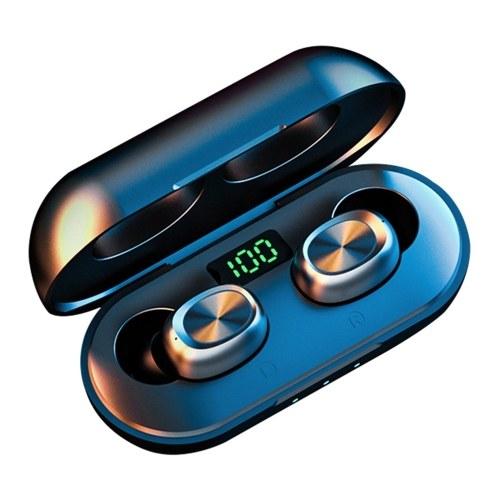 TWS Bluetooth 5.0 Auscultadores sem fios Mini Fone de ouvido intra-auricular inteligente com microfone Pick Up Emparelhamento automático de fones de ouvido